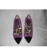 Womens Size 8 JESSICA SIMPSON Purple Black Heels - $31.74