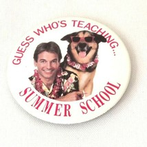 Vintage 1987 Guess Who's Teaching Summer School Movie Promo Pin Mark Harmon - $7.66