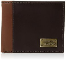 Tommy Hilfiger Men's Leather Passcase Wallet with Removable Card Holder,Melton B