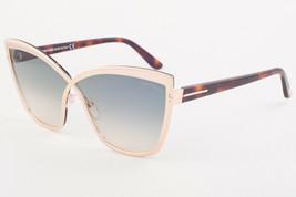 Tom Ford SANDRINE 715 28P Gold / Green Gradient Sunglasses TF715-28P 68mm - $244.02