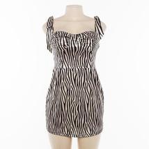Women's Summer Fashion Zebra Stripe Print Mini Sundress image 6