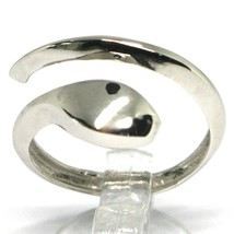 White Gold Ring 750 18k , Snake, Stylized, Made in Italy, Open image 1