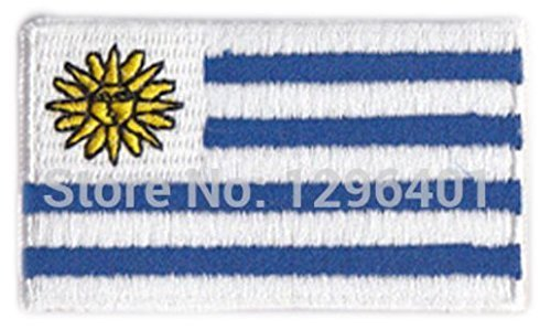 Uruguay Embroidered Patch - 2 1/4 x 1 1/4 ""