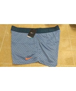 New Nike Women's All Sports Shorts Blue Polka Dots Design Sz XL - $20.00