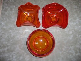 Vintage 3 Pc Set Viking Epic Persimmon Bowls Ha... - $42.03
