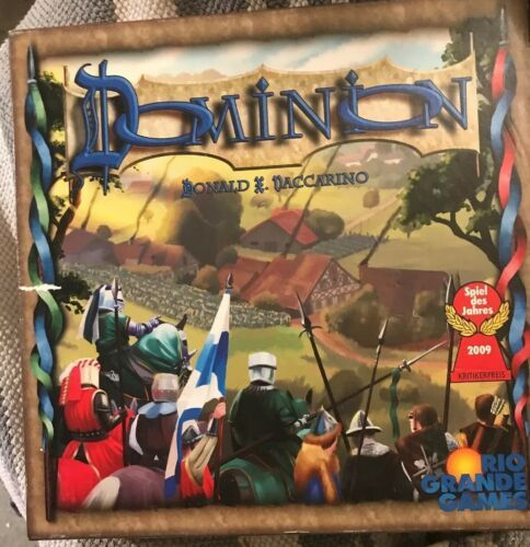 Primary image for DOMINION Board Game All 500 cards w/rules/tray/insert 100% Complete