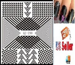 C9:Nail Art Manicure Tips Sticker w/Free 2PCS Rolls Striping Tape Line Nail Tips - $2.97