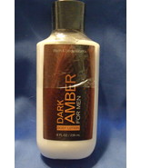 Bath and Body Works New Dark Amber for Men Body Lotion 8 oz - $9.95