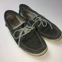 Sperry Top-Sider Womens Size 7.5 M Leather Boat Shoe Loafer Gray - $26.96