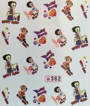 Bang Store Nail Art Water Decals Betty Boop Funny And Cute - $2.11