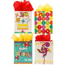 7 1/2W x 9H x 4G Medium Pinwheel Pop Layer On Matte Finish Gift Bag , 4 ... - $212.35