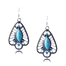 Bohemia Peacock Retro Tassel Earrings Fashion Women Statement Dangle Dro... - $25.99