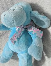 GANZ HE9835 Polyester Fiber 11 Inch Blue Tie Dye Lambie With A Satin Bow image 3