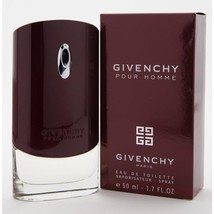 GIVENCHY Pour Homme Eau de Toilette Spray 1.7oz/50ml New in Box Sealed - $45.42
