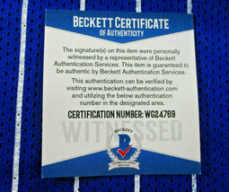 SHAQUILLE O'NEAL / AUTOGRAPHED ORLANDO MAGIC PINSTRIPED CUSTOM JERSEY / BECKETT image 6