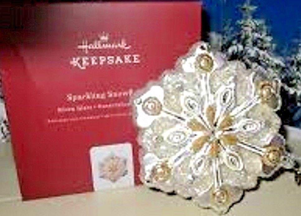 Hallmark Sparkling Snowflake Premium Glass Ornament