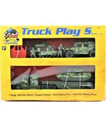 1999 Fast Lane Trucks Exclusive Toys R Us Military Vehicles Set Helicopt... - $39.59