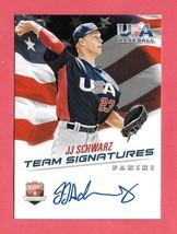 2015 J.J. Schwarz Panini USA Baseball Rookie Auto /399 - $2.84