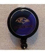Nfl Baltimore Ravens Badge Reel Id Holder Handmade Purple Black Alligato... - $8.99