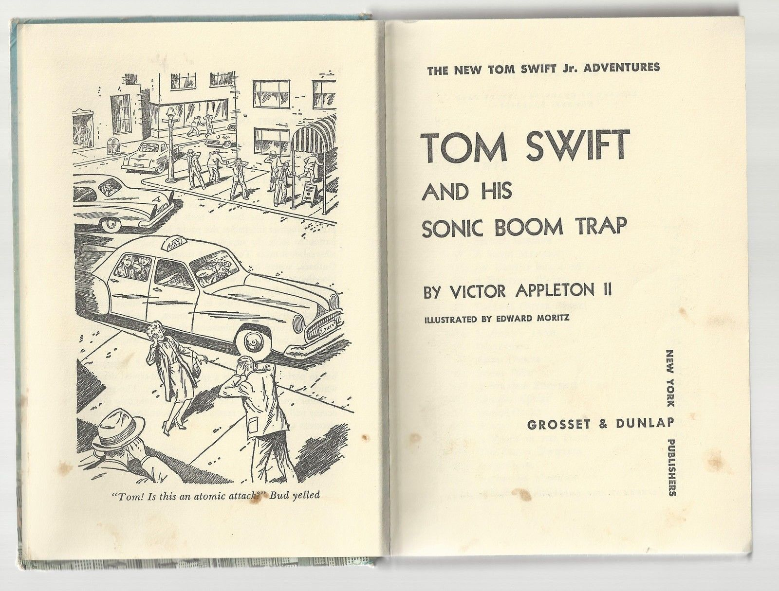 TOM SWIFT Jr AND HIS SONIC BOOM TRAP picture cover VG  1965  1ST EDITION