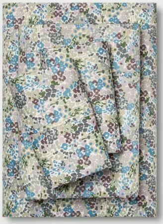 400 Thread Count Purple Floral Printed Performance Sheet Set - Threshold - TWIN