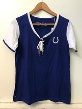 Indianapolis Colts Women's NFL Team Apparel Lace Up Top Shirt Football S... - $18.95