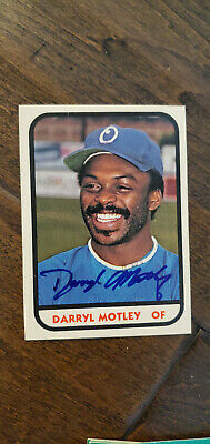 Primary image for 1981 TCMA SIGNED AUTO ROOKIE CARD DARRYL MOTLEY OMAHA ROYALS BRAVES JAPAN # 22