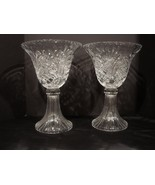 "Pair of Huge Towle Crystal Tall 14 ""  Centerpiece Vases - $120.00"
