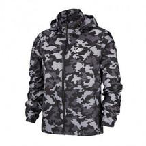 Nike Classic Essential Windbreaker Camo Hoodie Jacket Outdoor Apparel BV2979-010 - $110.31