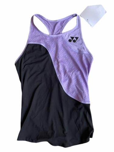 NWT NEW Purple Black Yonex Racerback Running Athletic Tank Top Women Sz S Tennis