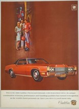 1969 Print Ad Cadillac Fleetwood Eldorado Red Car Front Wheel Drive - $12.85