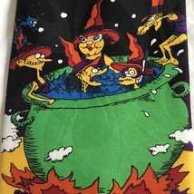 Halloween Tie Happy Witches In A Cauldron Bats Flying New Hallmark New - $20.78