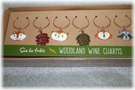 Adorable   Woodland Animal WIne Glass Charms   NIB/NIP New - $7.59