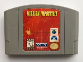 ☆ Mission Impossible (Nintendo 64 1998) AUTHENTIC N64 Game Cart Tested &... - $7.44