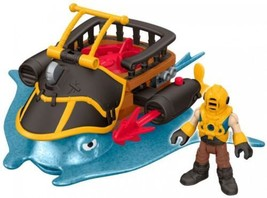 Fisher-Price Imaginext Stingray Pirate Vehicle with Captain Nemo  - $28.58