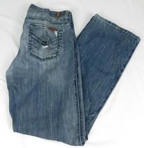 7 For All Mankind Mens A Pocket Blue Denim Jeans Distressed Pockets 30 W... - $28.99