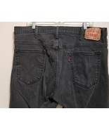 Levis 569  Mens Jeans  38 x 34 Black Wash Loose Straight Fit Cotton Elas... - $33.73