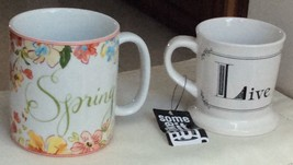 Coffee Mug. Two Sizes. Select One, Spring or Live. - $8.50