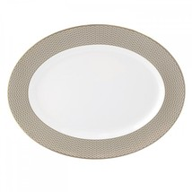 Waterford Lismore Diamond Oval Platter 15.5in Bone China New with Tag - £105.48 GBP