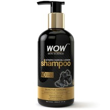 WOW Skin Science Charcoal Keratin Shampoo No Sulphate Parabens Silicones... - $21.99