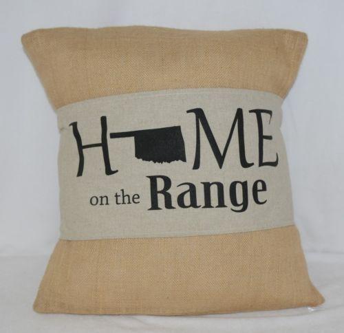 Kate Winston Pillow Burlap Cover Plus Home On The Range Wrap