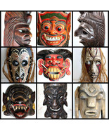 Wooden Mask Hand Carved Vintage Collectible Home Decoration Wood Made Ra... - $19.80+
