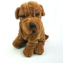 """Prestige Vintage SharPei Stuffed Plush Realistic Wrinkle Dog 13"""" 1985 - $24.74"""