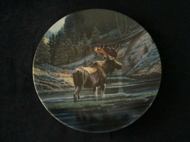 THE MOOSE collector plate PAUL KRAPF Wild and Free: Canada's Big Game WI... - $29.99