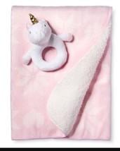 Circo Limited Edition Pink Unicorn Balboa Baby Throw Blanket Rattle New - $518,68 MXN