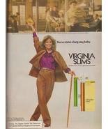 1978 Virginia Slims Cheyl Tiegs Richard Assatly Cigarette Vintage Print ... - $7.92
