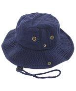 Navy Boonie Bucket Hat Cap Fishing Hunting Summer Men Sun 100% Cotton Si... - $21.90