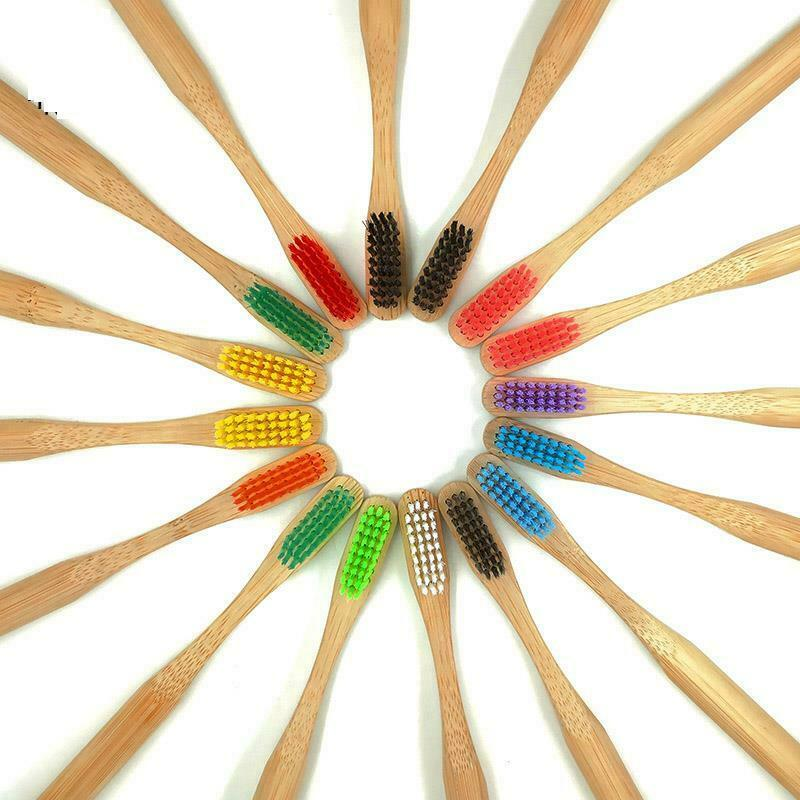 Bamboo Toothbrush Colorful Head Natural Eco Friendly Anti Bacterial Soft Bristle image 4
