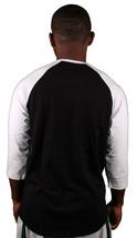 Omit O Leagues Mens Black White Raglan 3/4 Sleeve T-Shirt NWT image 2