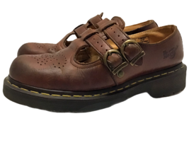 Dr Martens Size 6 Womens Brown Double Strap Leather Mary Janes Classic comfort  - $64.33